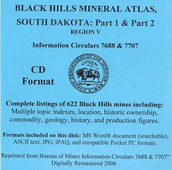Black Hills Mineral Atlas, South Dakota (CD) - CD01