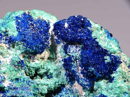 AZURITE from Laurium, Attika, Greece - PD32070