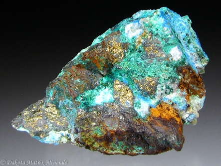 AZURITE from Leadhills, Lanarkshire, Scotland - PD32207