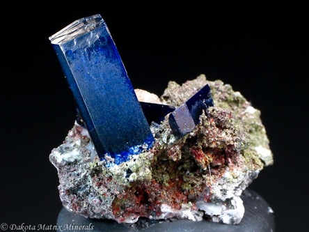 Azurite from Tsumeb mine, Tsumeb, Namibia - PD32480