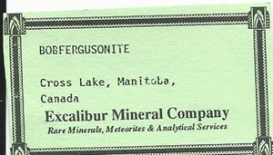 Bobfergusonite from Gotcha Claim, Cross Lake, Manitoba, Canada - BN46189