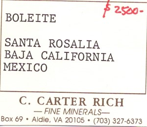 Boleite from Amelia mine, Boleo, Santa Rosalia, Baja California, Mexico - 36222