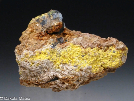 Carnotite from Mrak mine, Converse Co., Wyoming, United States - BN49607