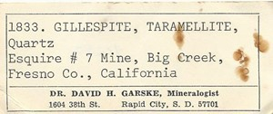 Gillespite from Esquire #7 claim, Big Creek, Fresno Co., California, United States - PD42282