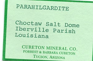 Hilgardite-3Tc from Choctaw Salt Dome, Iberville Parish, Louisiana, United States - PD35885