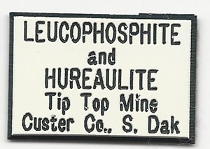 Leucophosphite from Tip Top mine, Custer Co., South Dakota, United States - BN47883
