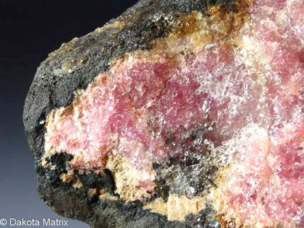 Rhodonite from Betts Manganese mines, Plainfield, Hampshire Co., Massachusetts, United States - AH52160