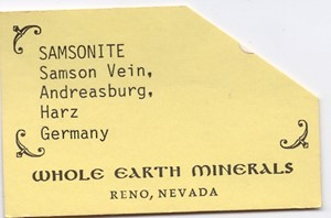 Samsonite from Samson mine, St Andreasberg dist., Harz, Lower Saxony, Germany - PD35780