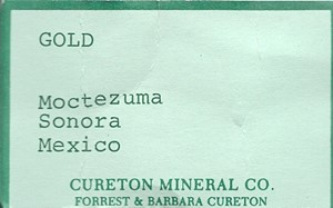 GOLD from Moctezuma, Sonora, Mexico - PD31482