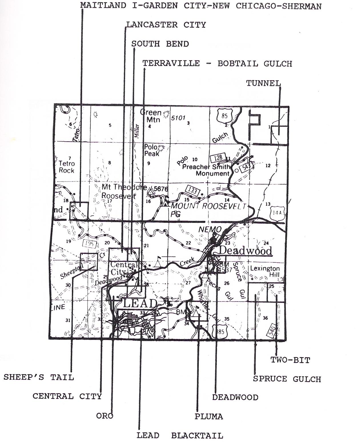 Ghost Town Maps Softcover B03  Dakota Matrix Minerals