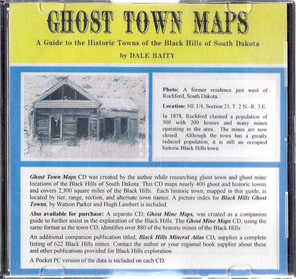 Ghost Town Black Hills Maps CD CD Dakota Matrix Minerals - South dakota map with towns