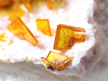 Wulfenite from Rowley mine, Maricopa Co., Arizona, United States - AH55324