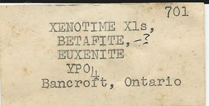 Xenotime-(Y) from Bancroft, Ontario, Canada - PD33375