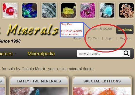 Your Mineral Wish/Want List